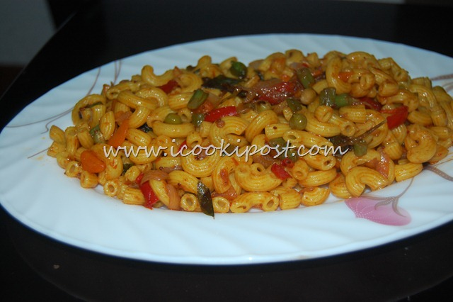 Indian Style Vegetable Macaroni
