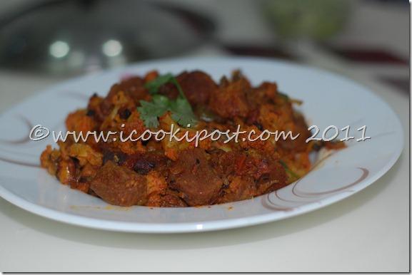 Soya -Cauliflower Masala