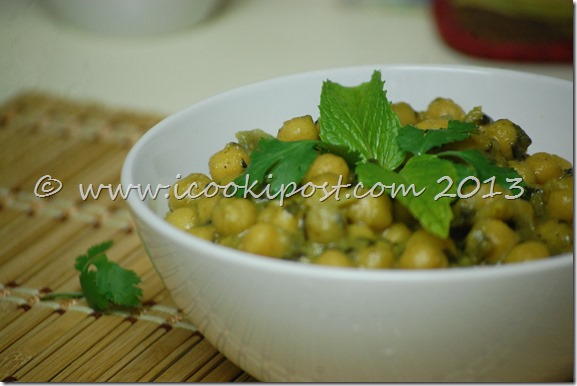 chana Green Masala (1)