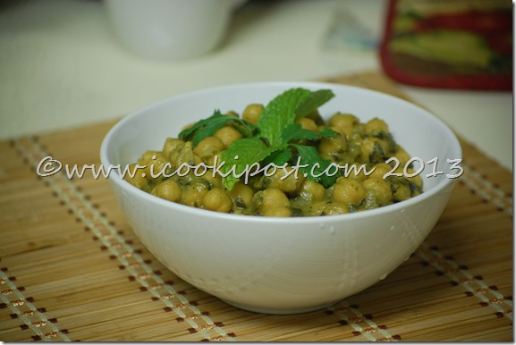 chana Green Masala (2)